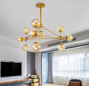 10 Light Modern MODO LED Glass Ball Chandelier Ceiling Light Lobby Pendant Lamp