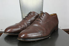 Alfred Sargent shoes 12 EEE leather oxford cap toe made in England brown