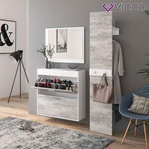 Vicco Flurgarderobe San Remo Garderoben Set Spiegel Schuhschrank