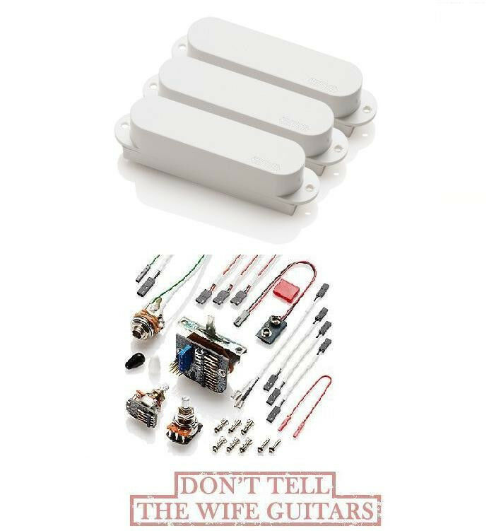 EMG SAX SET OF 3 WHITE STRAT ( FREE WORLDWIDE SHIPPING ) Fender Stratocaster