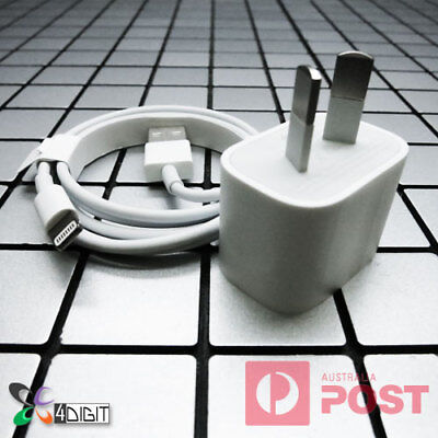 Original Genuine Apple iPad Mini 2 3 4 AC WALL CHARGER Lightning USB Data Cable