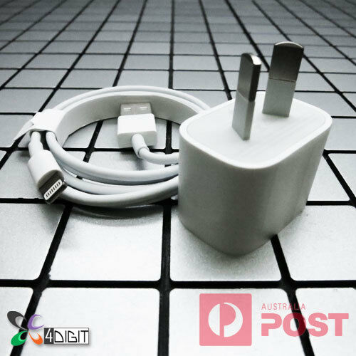 Original Genuine Apple iPhone 5 5C 5S AC WALL CHARGER Lightning USB Data Cable