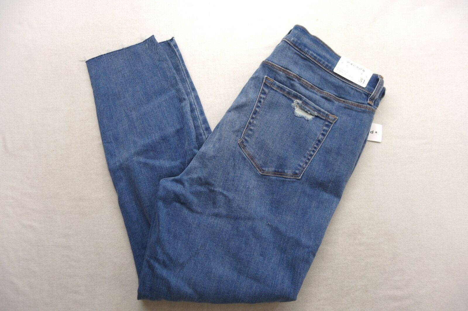 New Womens Pacsun High Rise Ankle Jegging Stretch Distressed Denim Jeans 31 x 26