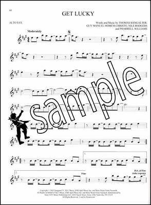 101 Hit Songs for Alto Sax Saxophone Sheet Music Book Katy Perry Lady Gaga