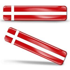 3D-Gel-Silicone-Denmark-National-Flag-Stickers-Danish-Scandinavian-Cross-Decals