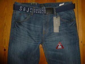 W36l Fit Straight Jeans Furio Jones 5052554506465 W36x34l S Cotton Blue cintura Smith con j R8Pn0Y