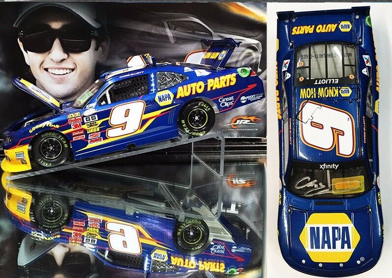 CHASE ELLIOTT  2015   AUTOGRAPHED  NAPA CAMARO 1 24 SCALE ACTION NASCAR DIECAST