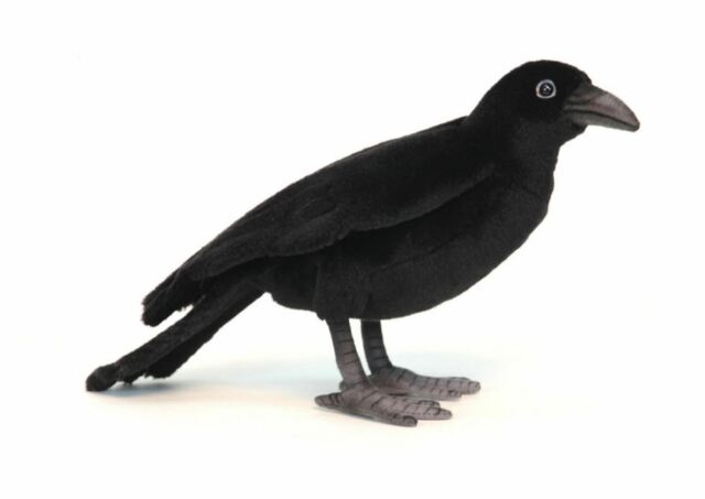 Hansa Toys Black Crow Bird 6266 Plush Stuffed Animal Toy Gift Decor Prop New