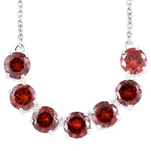 Gift-Jewelry-for-Women-925-Sterling-Silver-Cubic-Zirconia-CZ-Garnet-Necklace-18-034