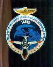 "T45TS HAWK Rolls-Royce McDonnell Douglas British Aero Sperry 6"" x 4-1/2"" sticker"