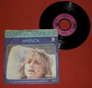 Single - GIANNA NANNINI - America / Sognami - Deutschland - Single - GIANNA NANNINI - America / Sognami - Deutschland