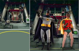 Affiche toile de fond des navires roulés ~ batman ~ 66 Batcave Pour 1/6 Hot Toys Robin Mms218 Tv