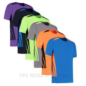 Gamegear-Men-039-s-Cooltex-Training-T-Shirt-Sports-Top-Gym-Running-Football-KK930