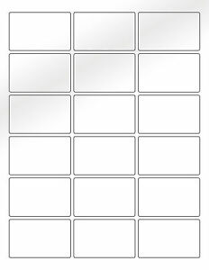 """6 SHEETS 2/""""x2-3//4/"""" BLANK WHITE *GLOSSY* STICKERS~WEDDINGS-FAVORS-GIFTS-BAGS"""