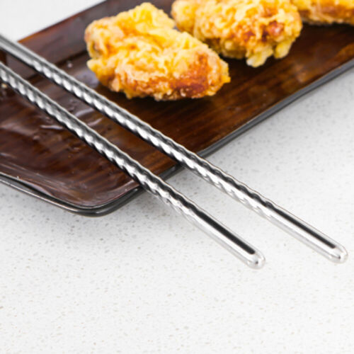Stainless Steel Chopsticks Household tableware kitchen pointed chopsticks noodle