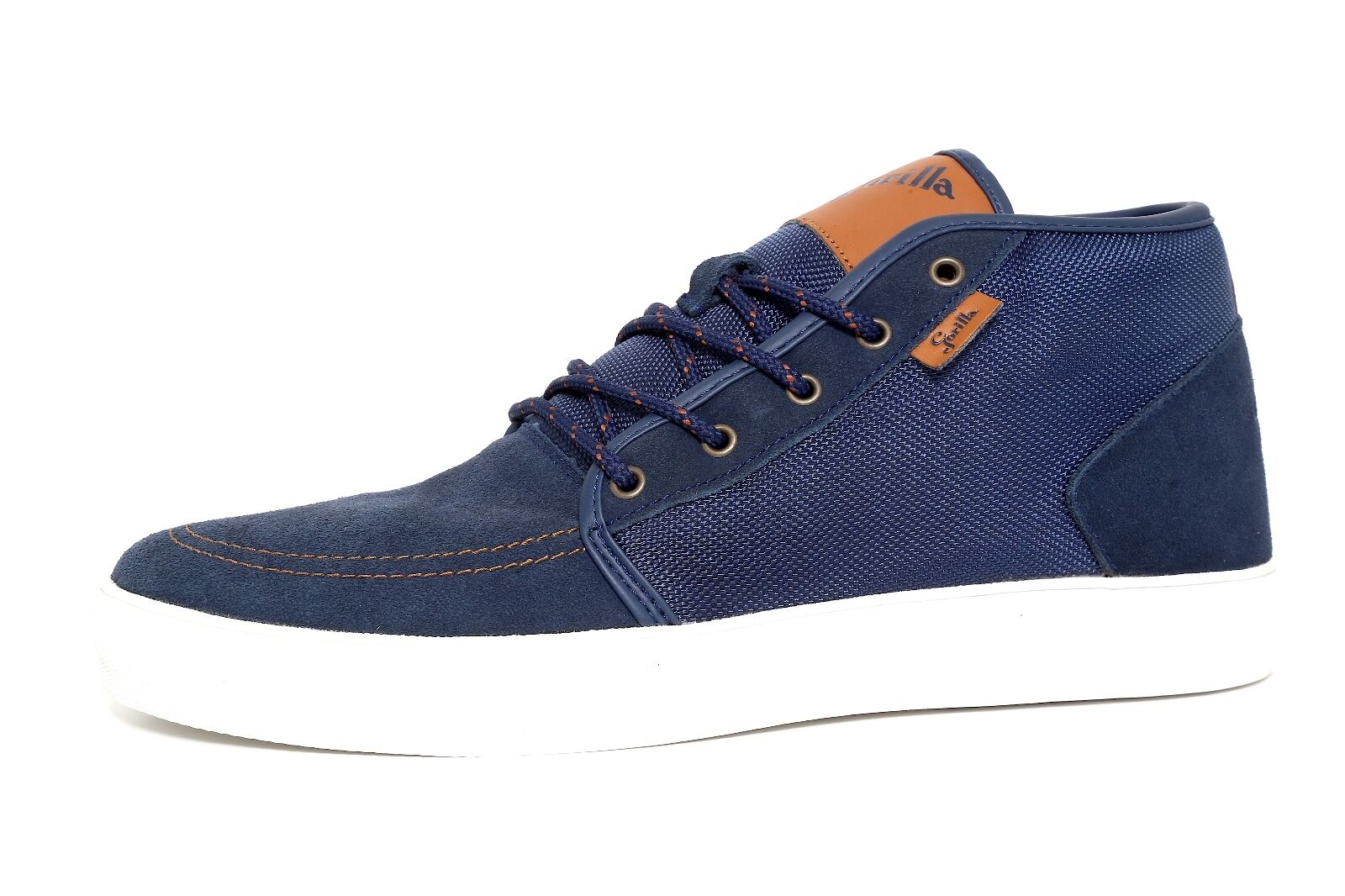 Gorilla bluee Textile Men Lace Up High Top Sneakers Size 12 1113