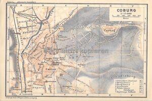 Brescia Italien um 1900 historische alte Landkarte Stadtplan map