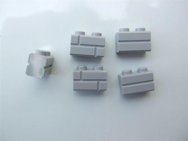 Parts /& Pieces size 1x2 – 6000066 5 x Lego grey profile bricks single groove