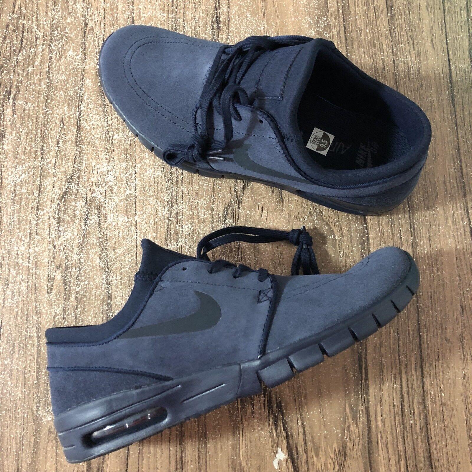 A738 Nike SB Stefan Janoski Max L 685299-440 Dark Obsidian Skate Size 9 NEW