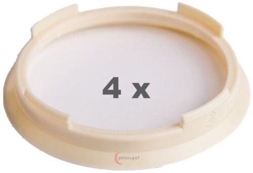 4 x Zentrierringe 70.4 mm auf 63.4 mm beige
