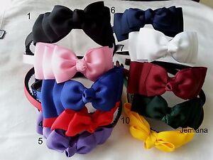 Jemlana-039-s-handmade-school-hair-bands-triple-layer-bows-for-girls