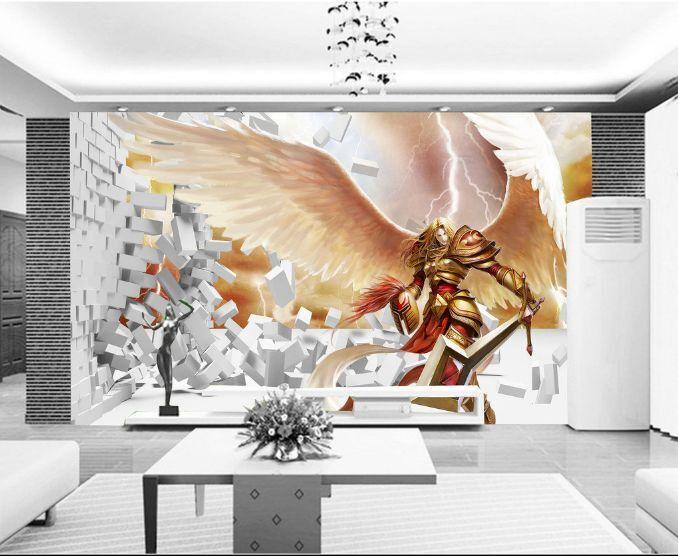 3D  Riesige Flügel 765 Fototapeten Wandbild Fototapete BildTapete Familie
