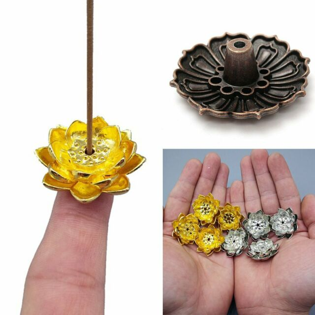 Details about 3 Types Mini Lotus Incense Burner Incense Stick Holder Censer  Practical Best US