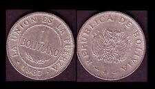 ★★ BOLIVIE ● 1 BOLIVIANO 1987 ● E2 ★★