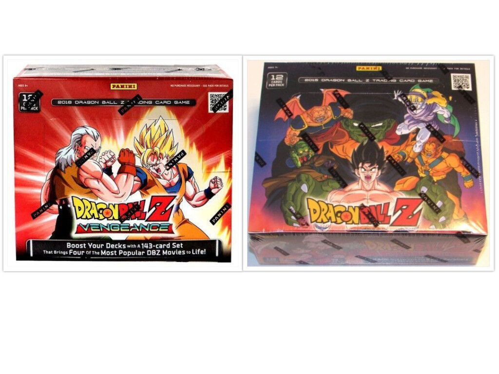 DRAGON BALL Z Vengeance + Movie Collection Booster Boxes DBZ Trading Card Game
