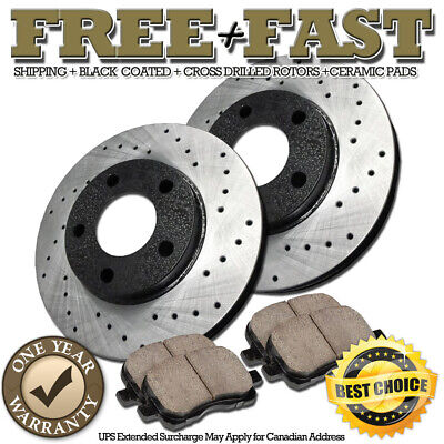 POWERSPORT BLACK DRILLED SLOTTED MAXIMA 2004-2005 FRONT Brake Rotors