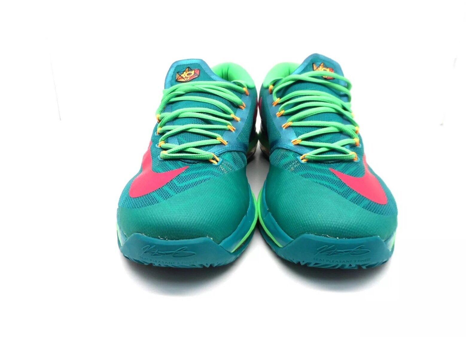 2014 Nike Zoom KD VI 6 Elite Hero Turbo Green Vivid Pink Size 13 VNDS