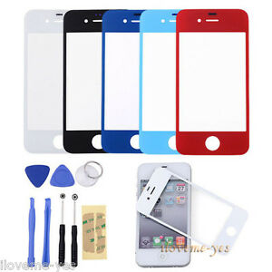 New-Front-Outer-Glass-Touch-Screen-Lens-Replacement-for-iphone-4-4G-4S-8-Tools