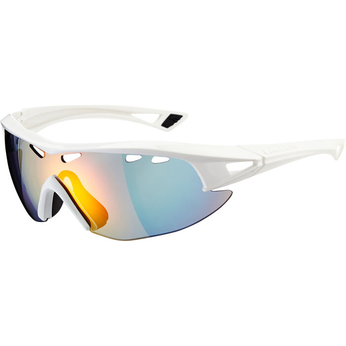 Madison Recon glasses - gloss white frame   Carl Zeiss Vision fire mirror lens