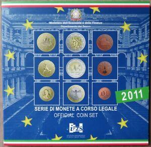 ITX2011.1 - COFFRET BU ITALIE - 2011 - 1 cent à 2 € + 2 € 150 ans unification
