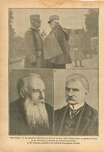 "Generale Luigi Cadorna & General Porra Etat-Major Italia WWI 1916 ILLUSTRATION - France - Commentaires du vendeur : ""OCCASION"" - France"