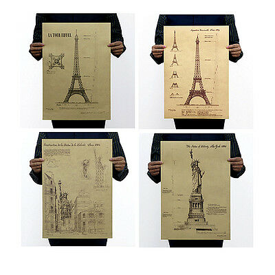 Grand Central Station Construction Drawing Vintage Poster Art Wall Decor G02