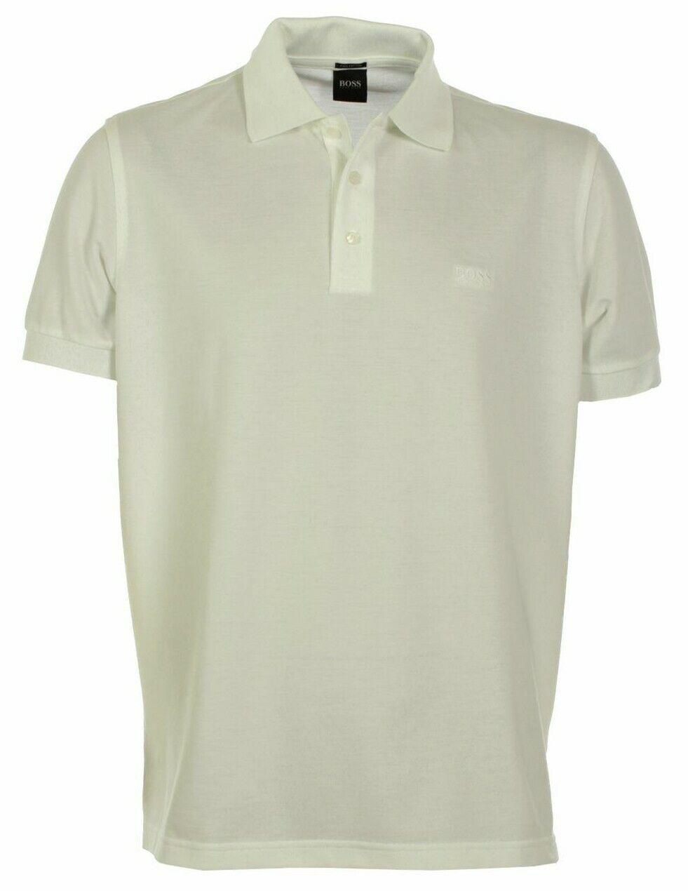 BOSS Ferrara White Pique Polo Shirt Mens Size XL 44 -46  Chest