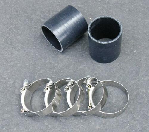 """2 x 2.25/"""" Silicone Coupler+T Bolt Clamps Turbo Hose K"""