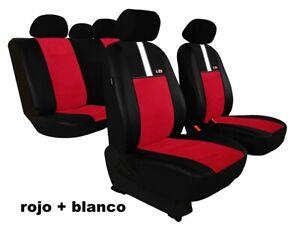 Rojo Negro Efecto 3D Fundas de Asientos para Seat Leon Cubierta Coche Completo