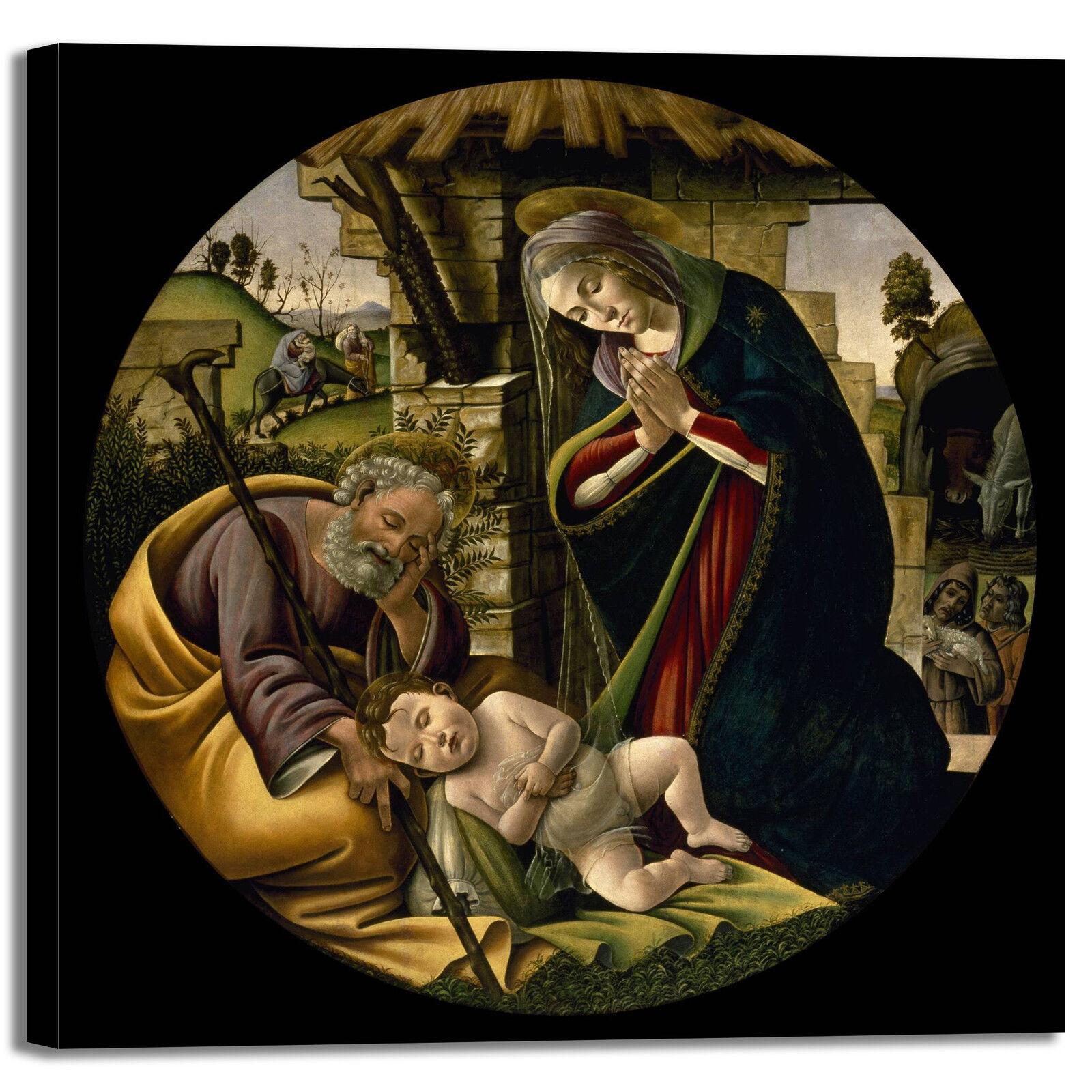 Botticelli adorazione Gesù design quadro quadro quadro stampa tela dipinto telaio arRouge o casa 6ef8b5