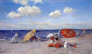 PAINTING-BEACHSCAPE-CHASE-SEASIDE-HISTORIC-LARGE-REPLICA-POSTER-PRINT-PAM1460