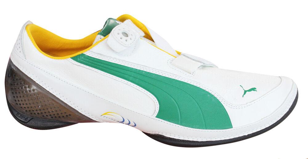 Puma Furio V Massa Baskets Hommes Crochet et Boucle Chaussures Bride Blanc