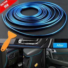 Blue 16ft Car Interior Door Gap Edge Line Insert Molding Trim Decor Strip Tool