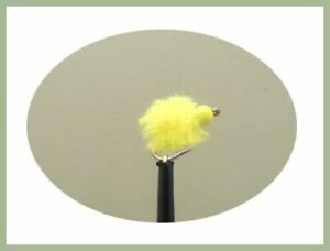 Barbless 6 Chartreuse Hot Head Eggstacy Eggs.Fly Fishing