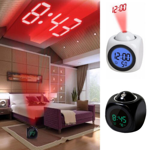 Alarm Clocks Clock Radios Home Garden Digital Projection Alarm Clock With Lcd Display Voice Talking Led Projector