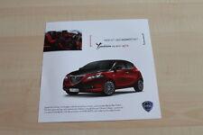 99639) Lancia Y Ypsilon - Black & Red - Prospekt 01/2012
