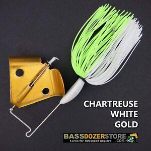 Buzzbait-RAPPER-CHART-WHITE-GOLD-buzz-bait-buzzbaits-KVD-trailer-hook