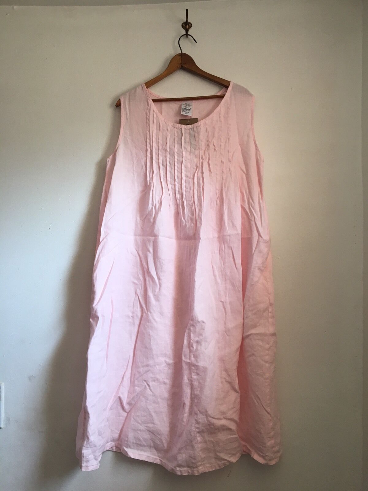 Match Point Linen Rosa Dress Pintuck Pintuck  Pintucked Pleat Pleated Tank Sun