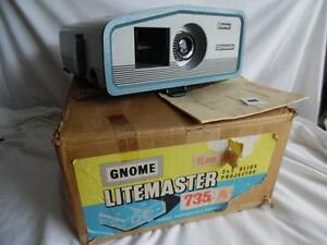 Vintage-Gnome-735A-Slide-Projector-with-original-box-and-instructions-un-tested