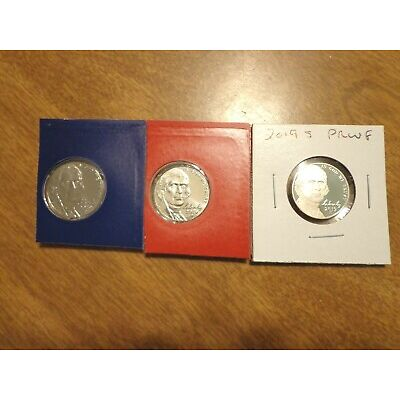 2019 P D S Jefferson Nickel Proof 3 Coin Set PDS Sealed US Mint Cello